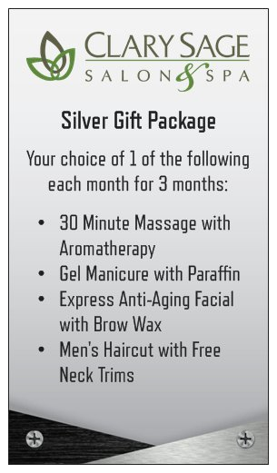 Package silver men